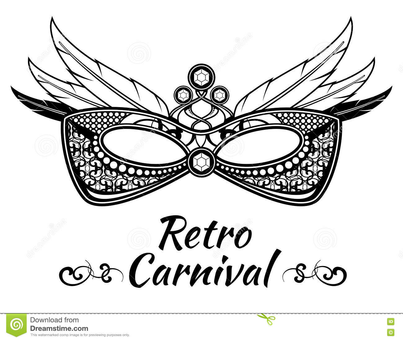 Carnival Vector Background Poster Flayer Invitation With Masquerade Masks