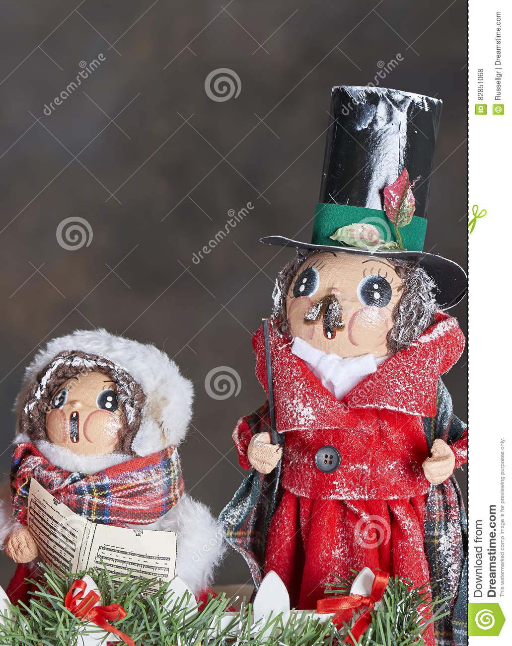 Christmas Carol Singers Ornaments.Carol Singers Ornaments Stock Photo Image Of Holiday 82851068