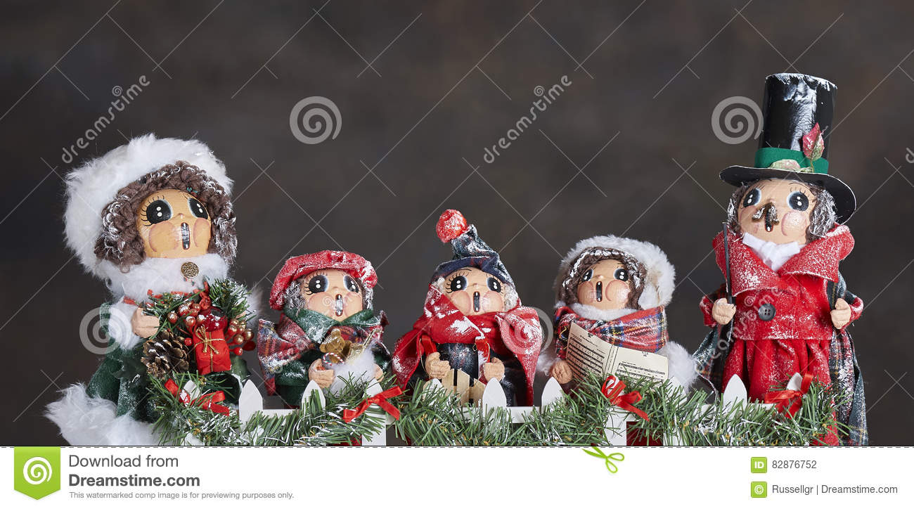 Christmas Carol Singers Ornaments.Carol Singers Ornaments Stock Photo Image Of Chorus 82876752