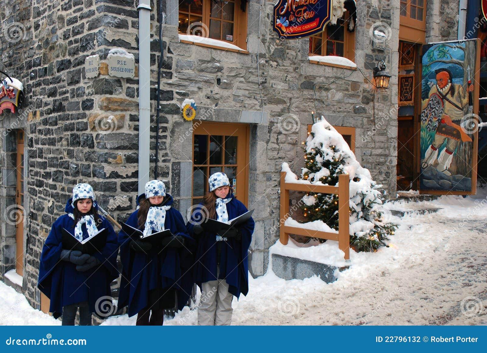 Carolers de la Navidad