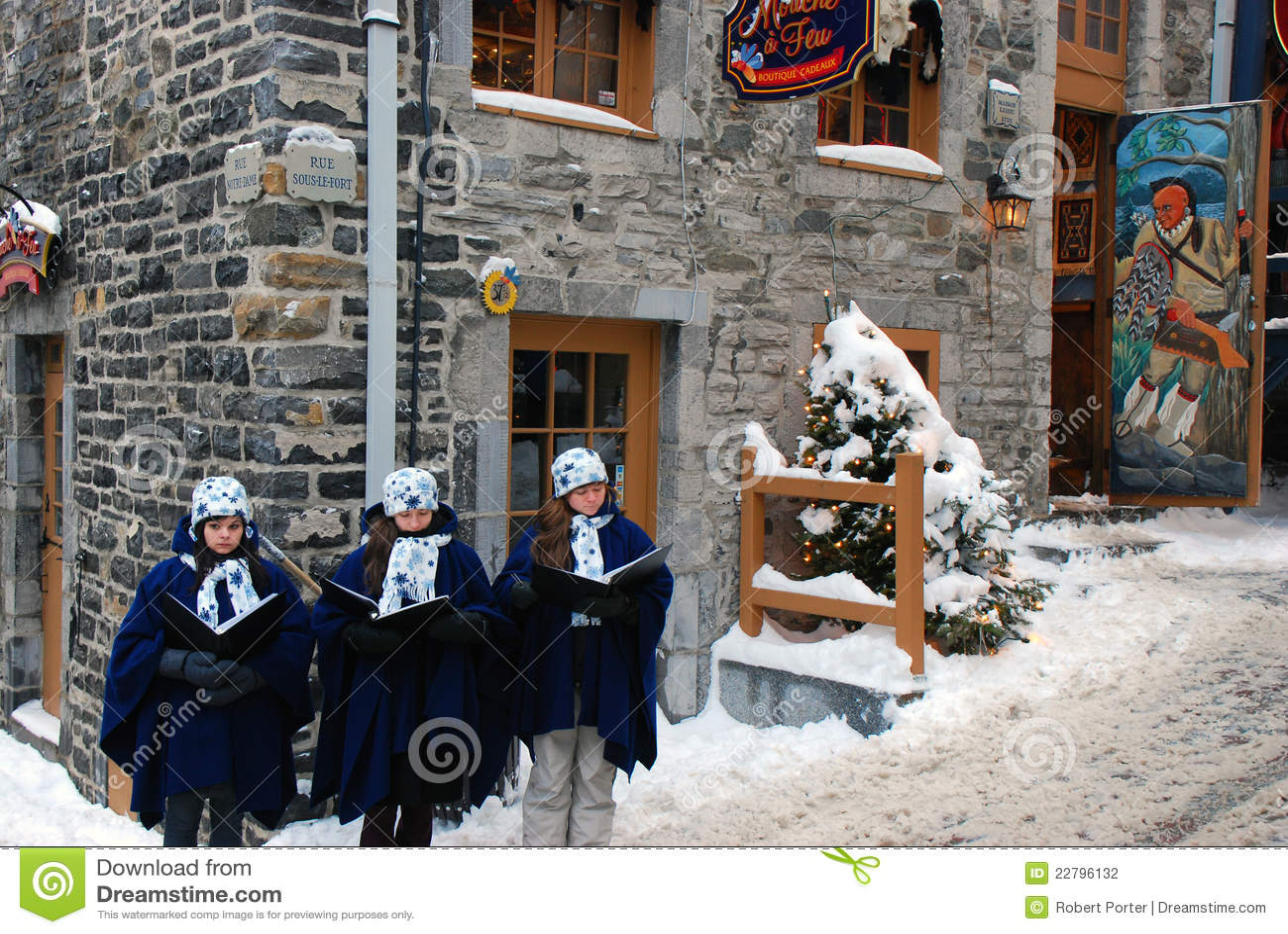 Carolers do Natal