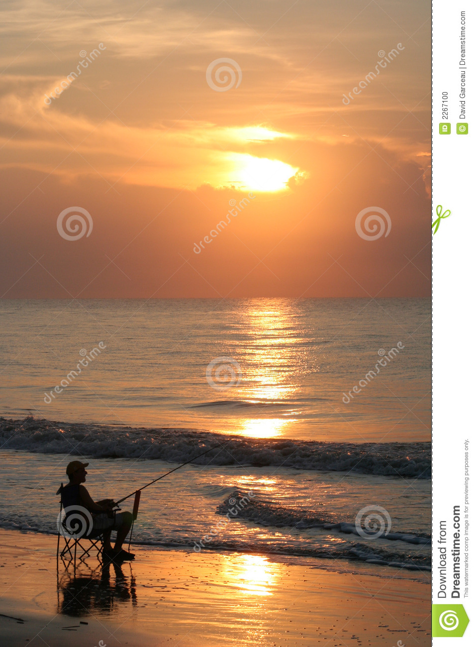 Carolina Beach Fisherman Stock Photo Image 2267100