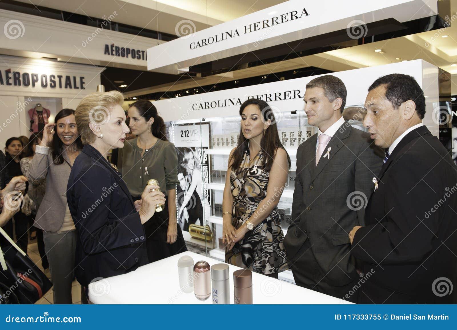 Carolina Herrera die Peru bezoeken