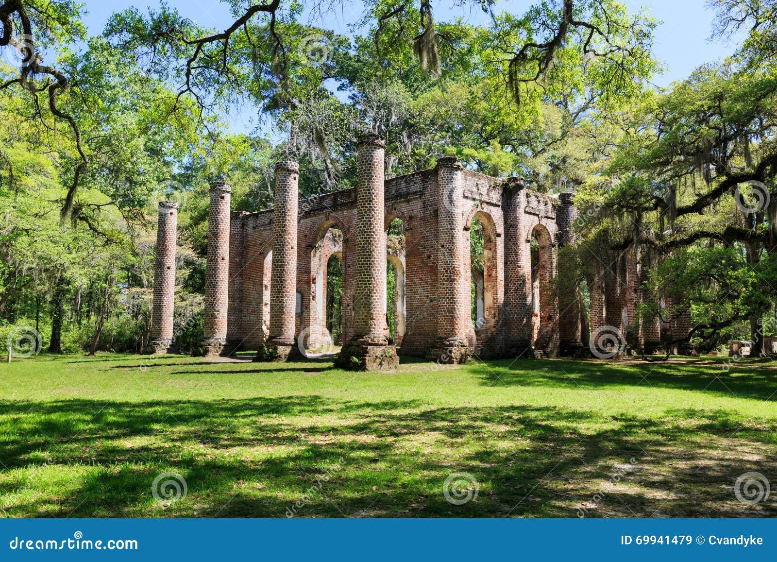 Carolina Sheldon Church Ruins du sud
