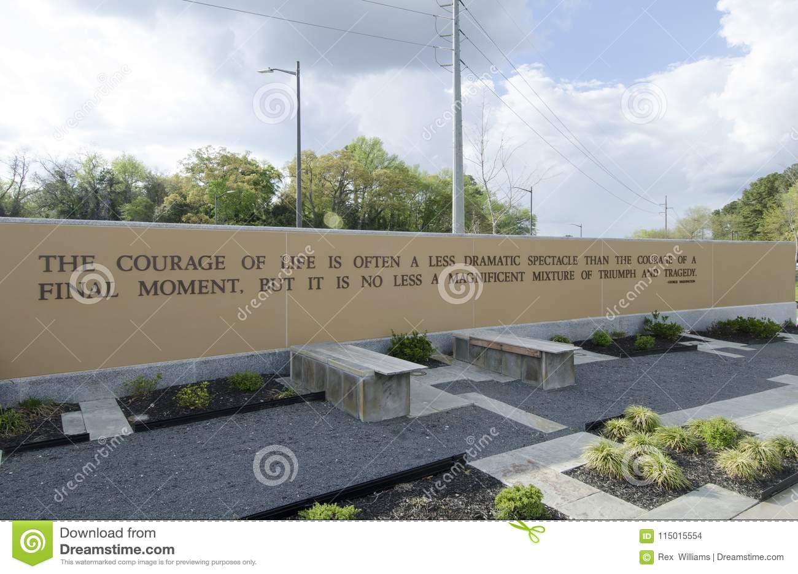 Carolina Veterans Park del nord, Fayetteville 22 marzo 2012: Parcheggi dedicato a tutti i veterani di NC nello stato