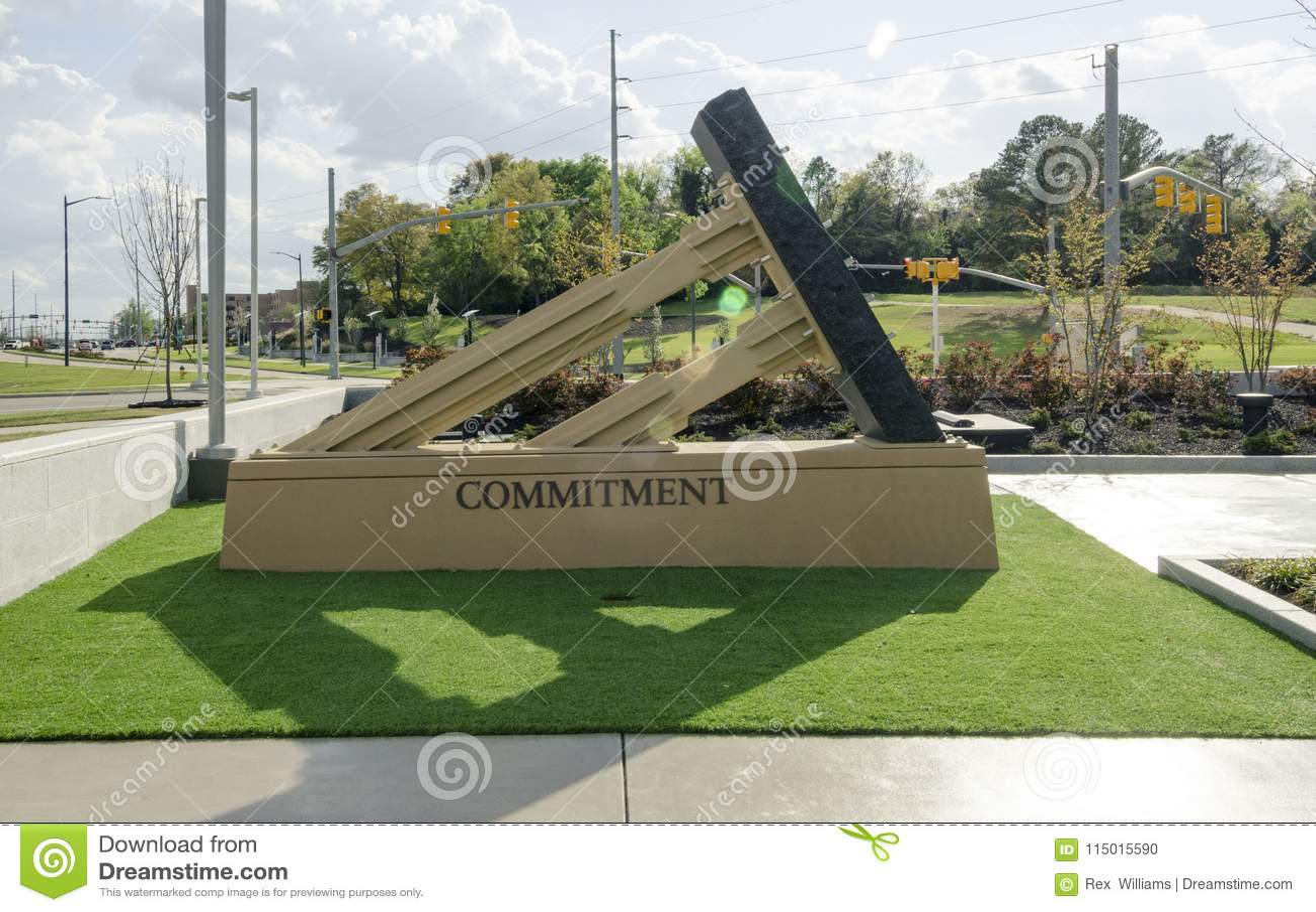 Carolina Veterans Park del norte, Fayetteville 22 de marzo de 2012: Parquee dedicado a todos los veteranos del NC en el estado