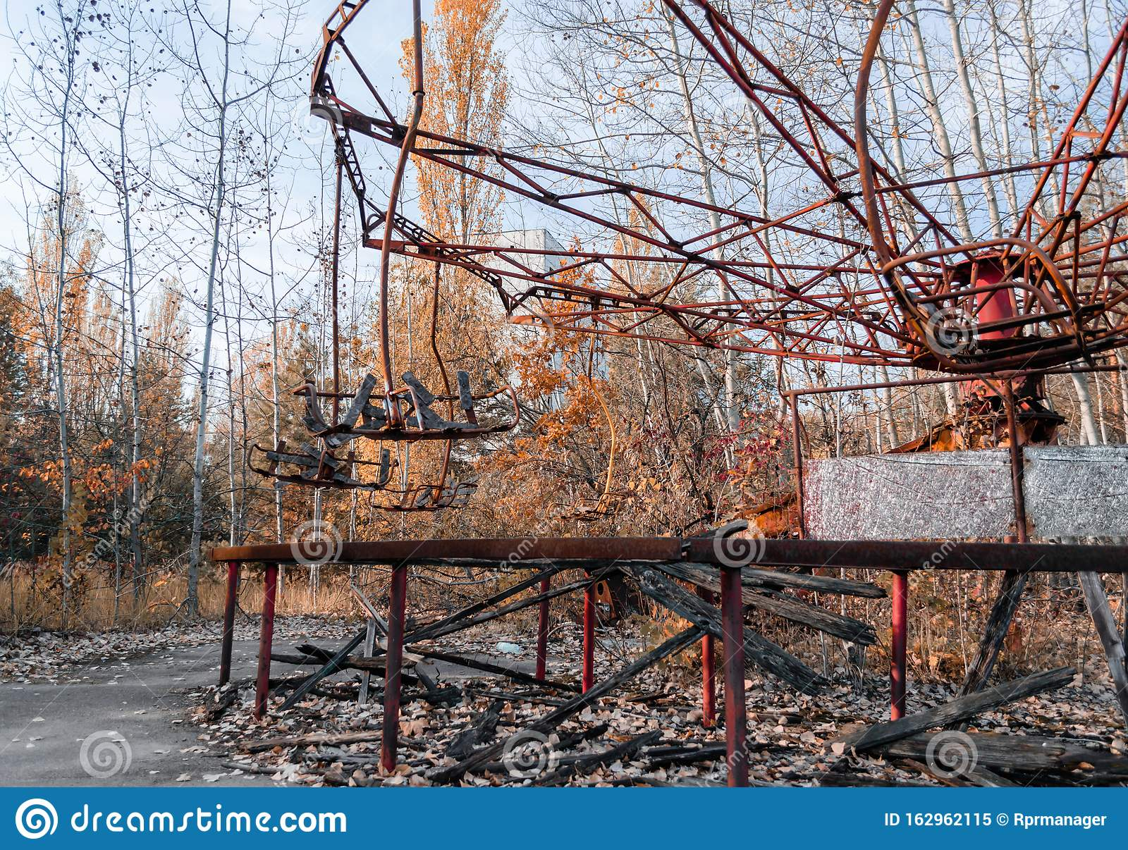 Carousel In An Abandoned Amusement Park In Chernobyl Stock Image Image Of Ecology Autumn 162962115