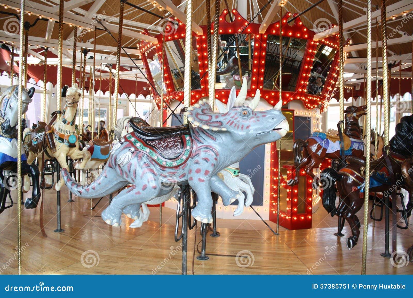 carousel dinosaur triceratops stock image image of carousel vibrant 57385751. Black Bedroom Furniture Sets. Home Design Ideas