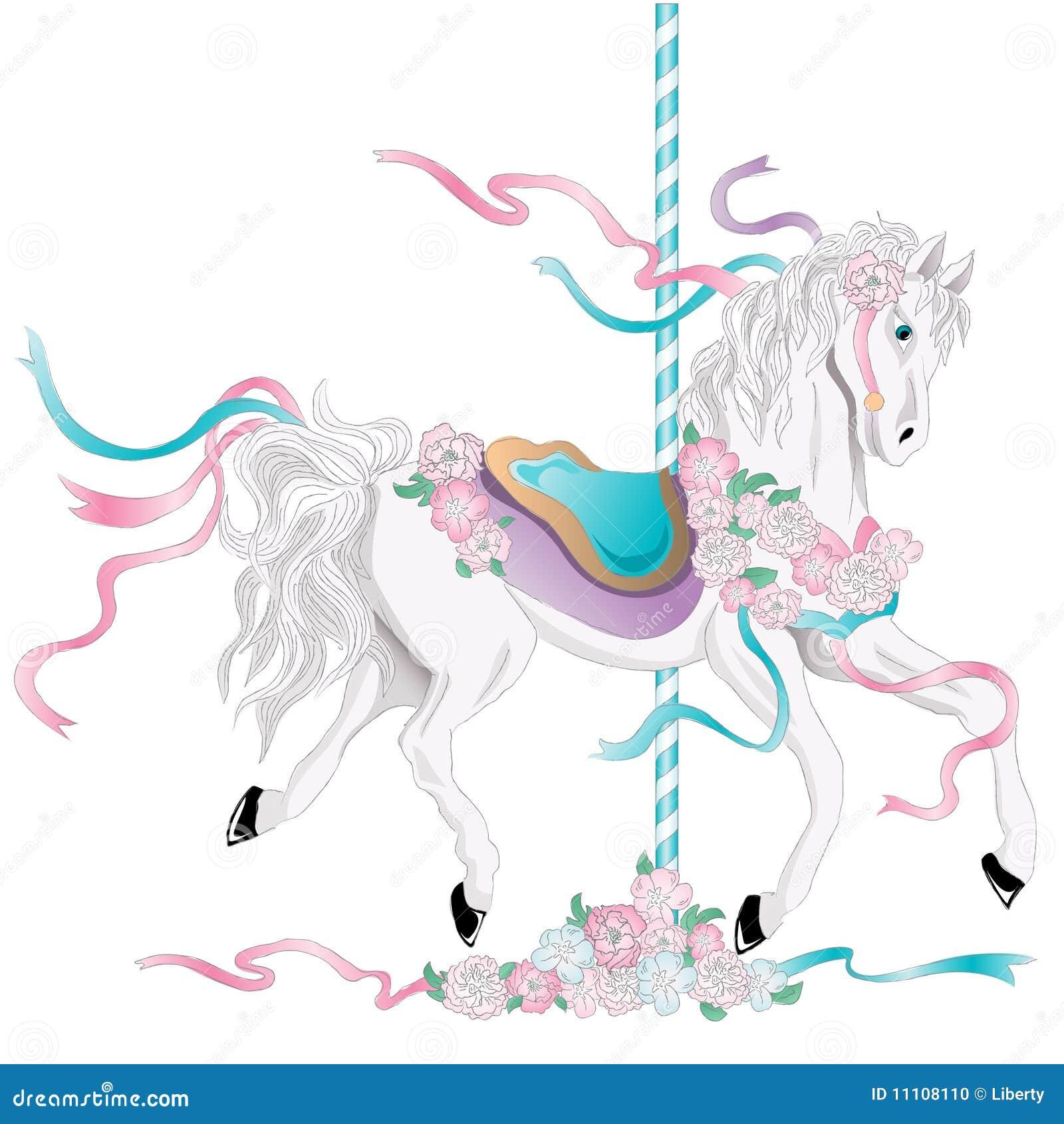 Carousel Horse Stock Vector Illustration Of Ribbon Horse 11108110
