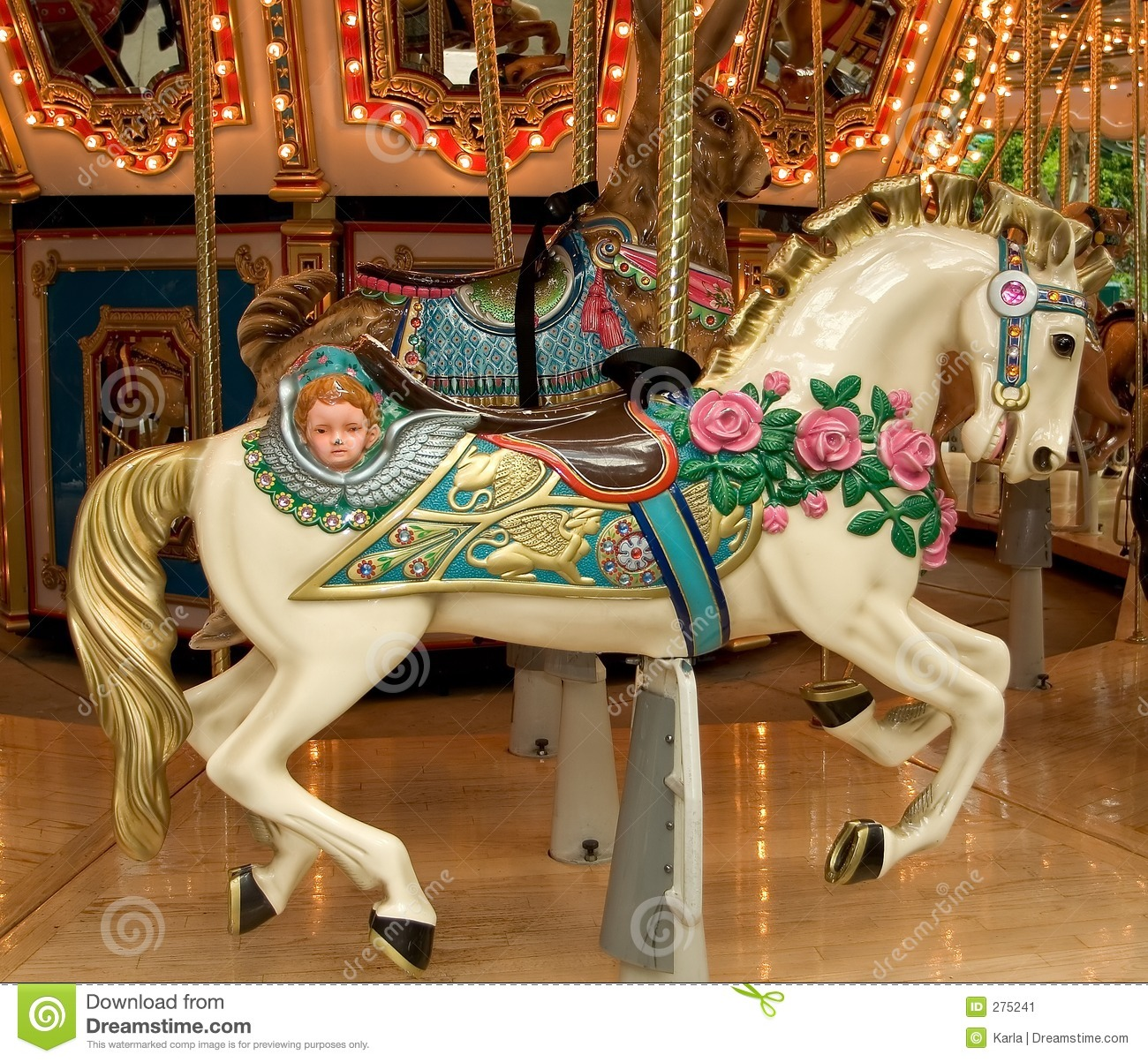 Ride The Pony >> Carousel Horse stock image. Image of representation, hoofs ...