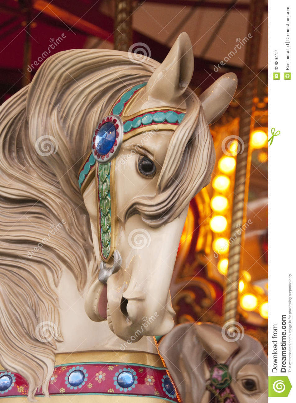 Carousel Horse Stock Photography - Image: 32689412