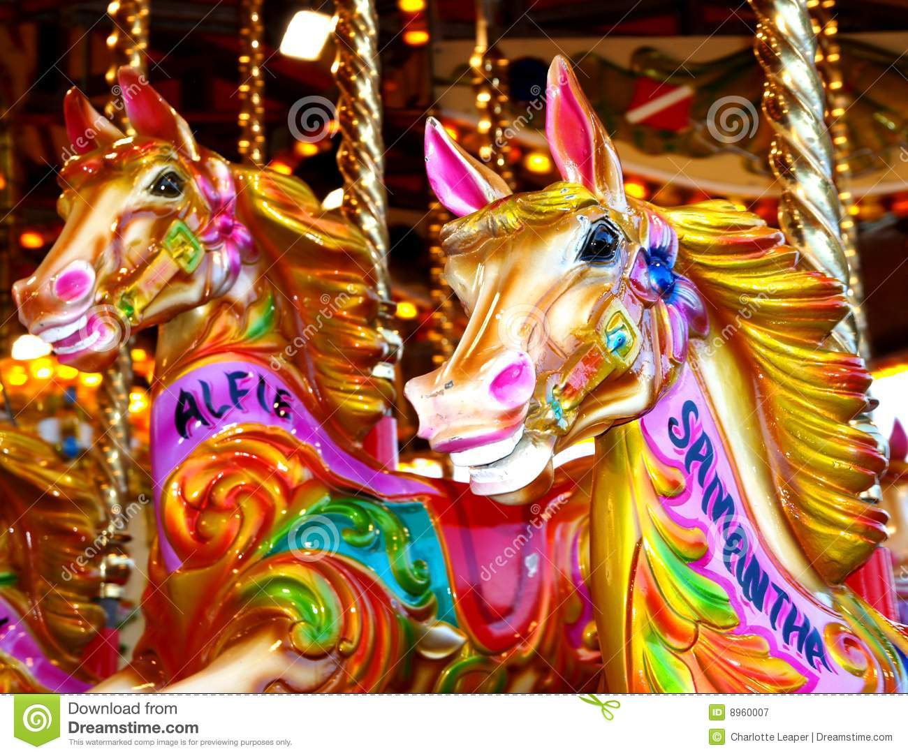 Carousel Horses Stock Image Of Colourful