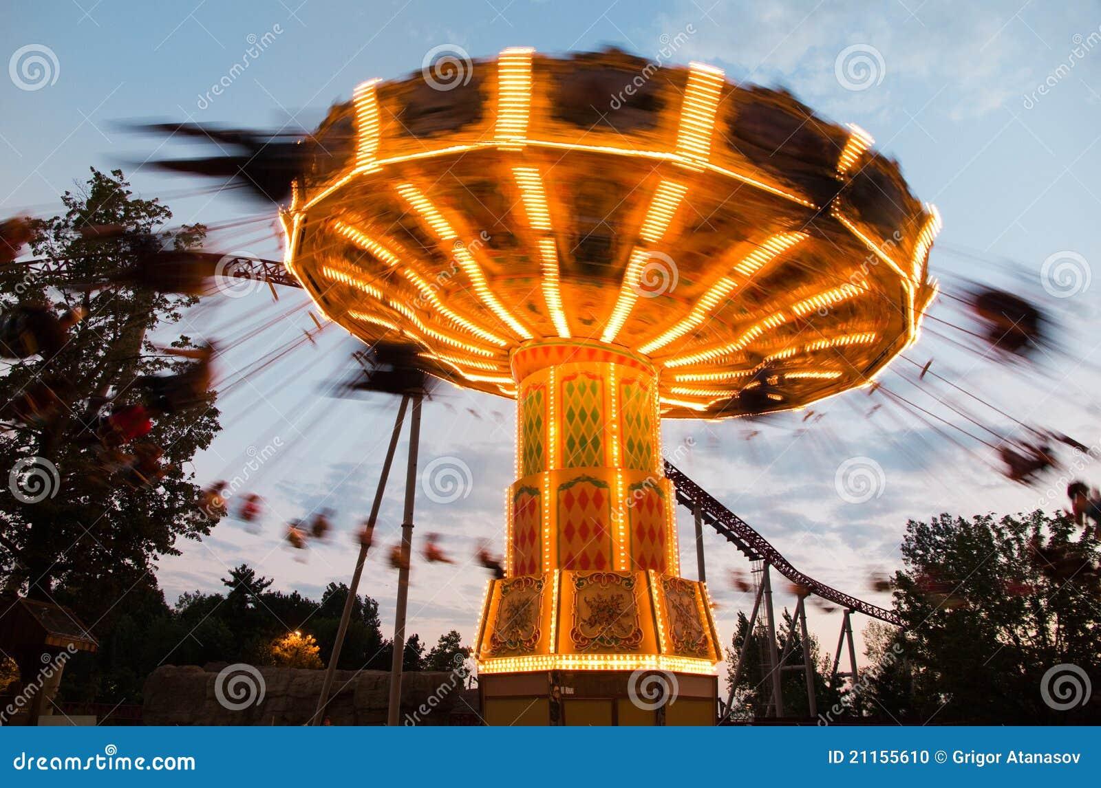 Carousel rozrywkowy park
