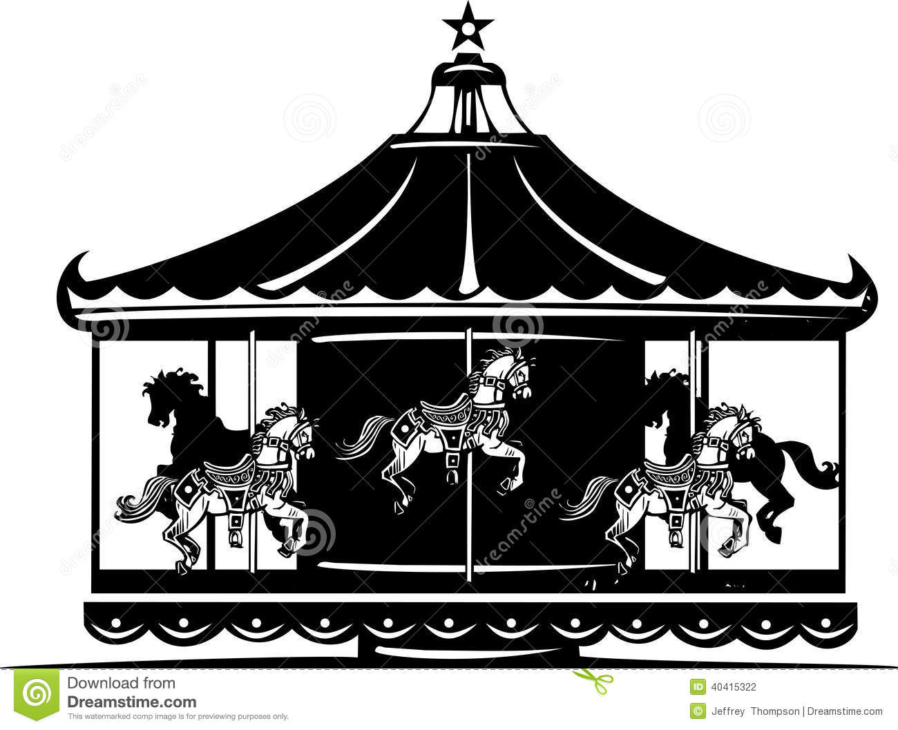 Carousel horse silhouette clip art - photo#26