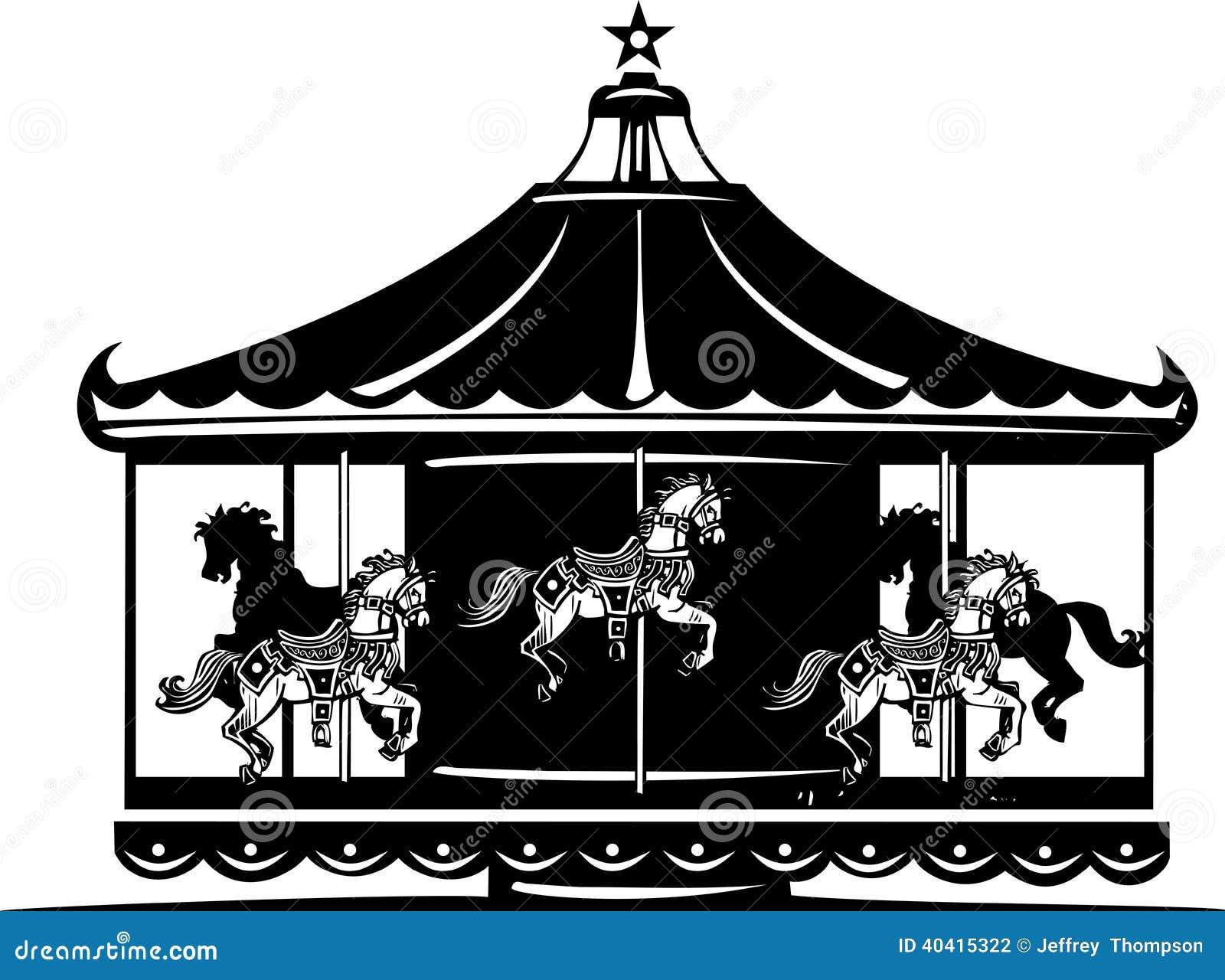 Carousel Stock Vector Image 40415322