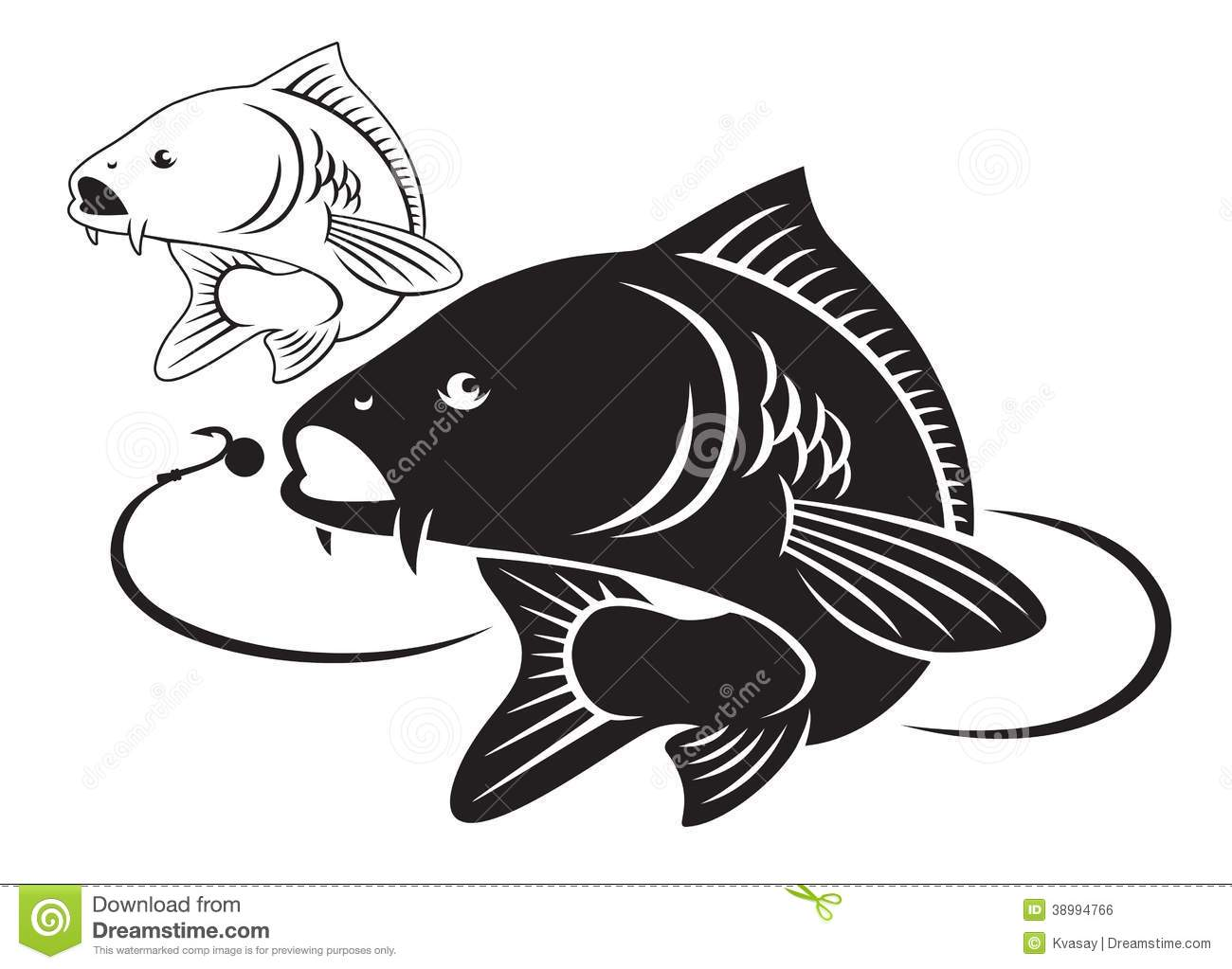 Carp fish stock vector. Illustration of carp, sports ...