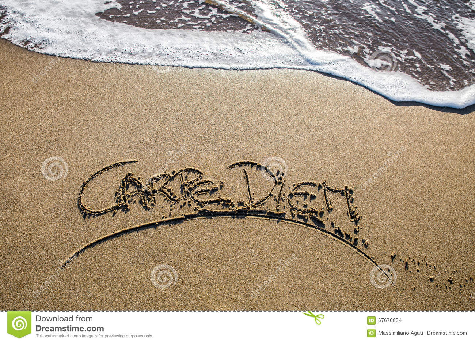 Carpe Diem En La Playa Foto De Archivo Imagen De Espuma 67670854