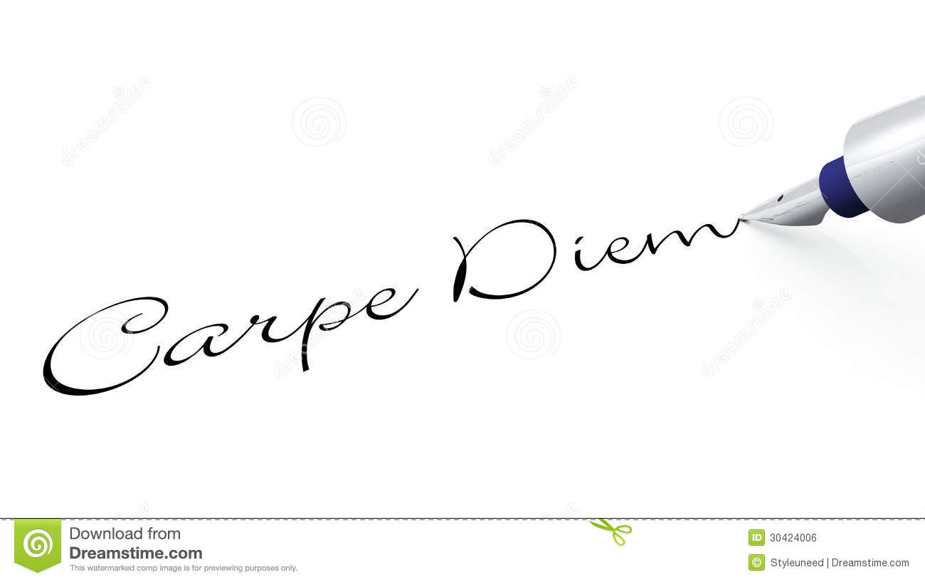 carpe diem background crafthubs carpe diem inscription stock illustration image of