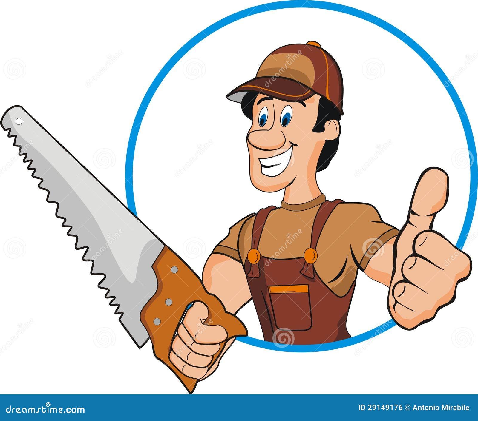 Cabinet Maker Clip Art: Carpenter Stock Vector. Illustration Of Parole, Character