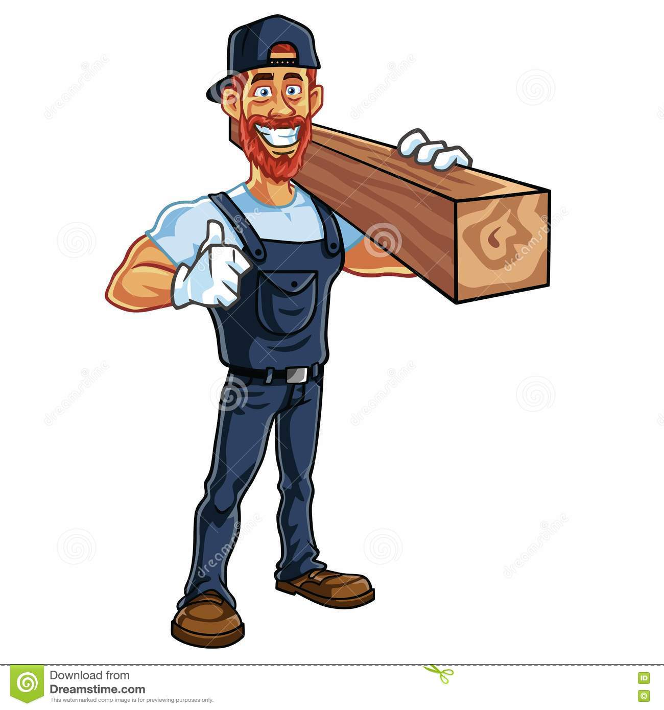 carpenter cartoon mascot vector stock vector carpenter clip art pictures carpenter clip art images