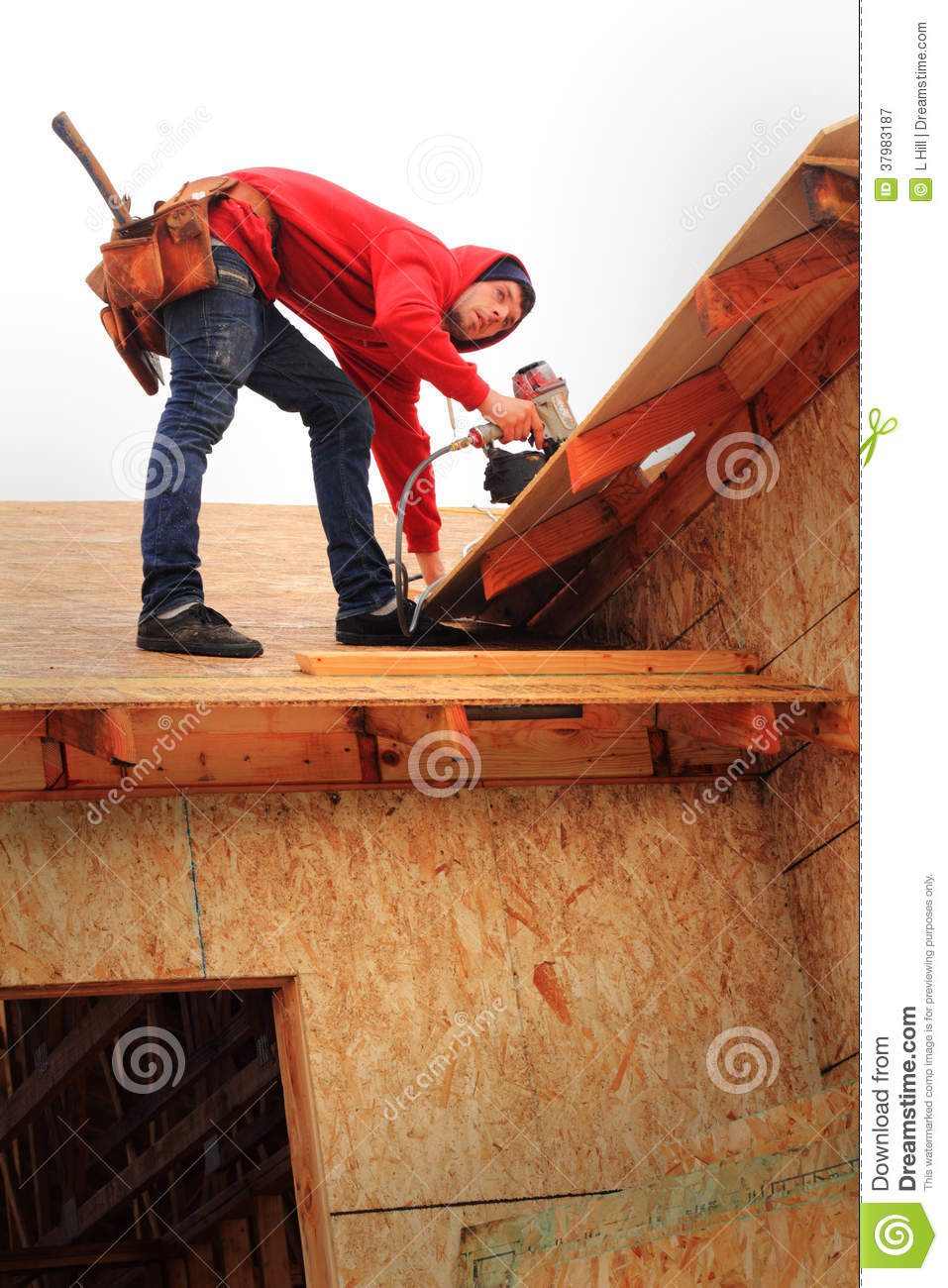 Carpenter Framer Royalty Free Stock Photography Image