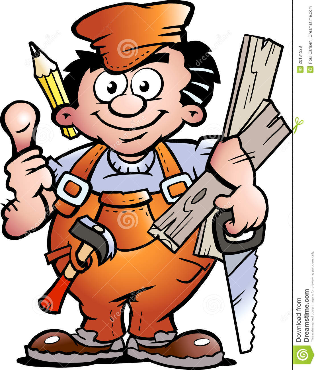 carpenter handyman stock vector illustration of plumber carpentry clipart carpentry clipart