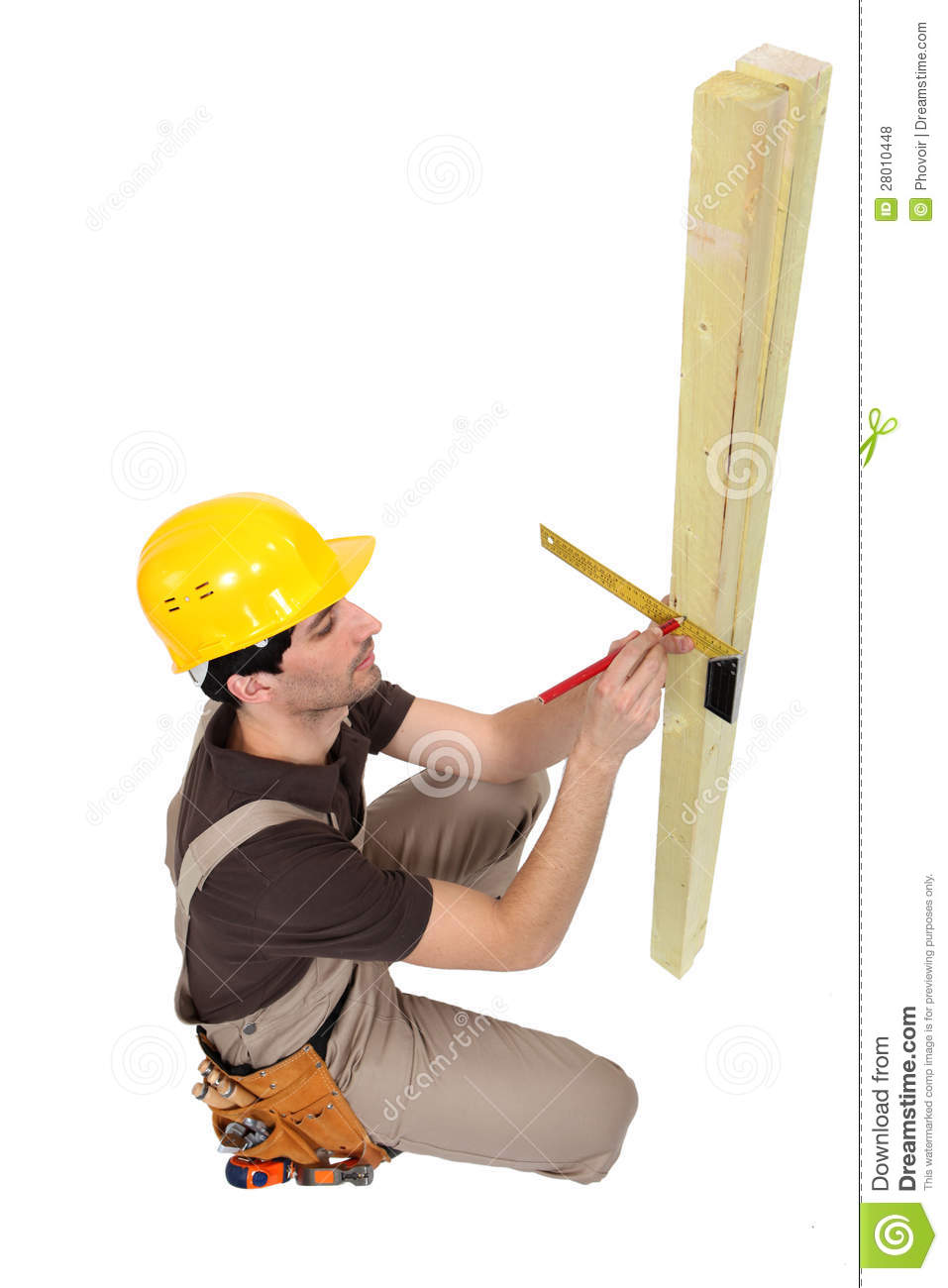 Carpentry Carpenter Woodworker Woodworking Wooden: Carpenter Marking Wood Royalty Free Stock Photos