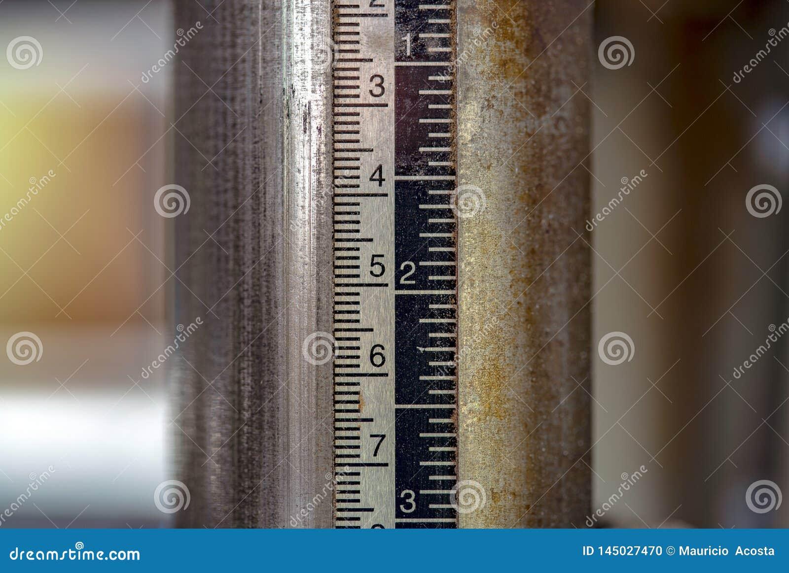 Carpenter planer measuring tool at a workshop