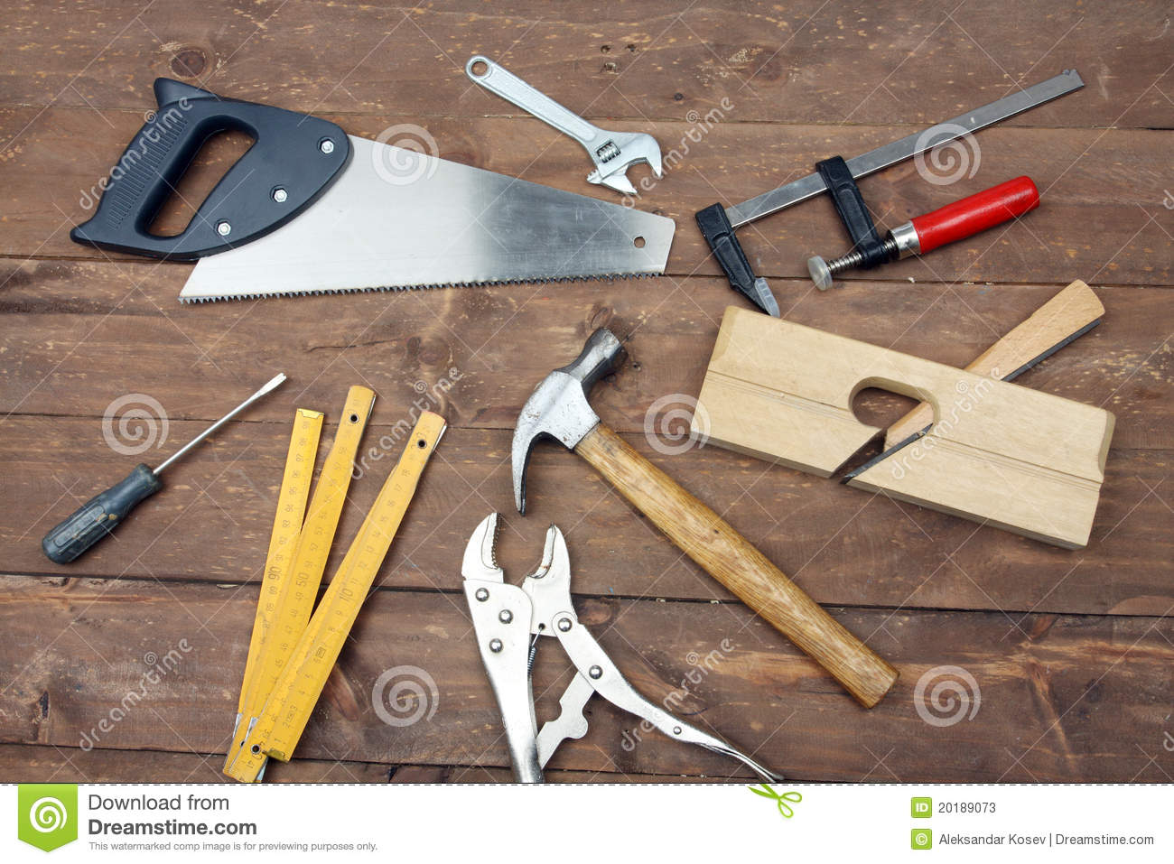 Carpenter's Tools Stock Photos - Image: 20189073