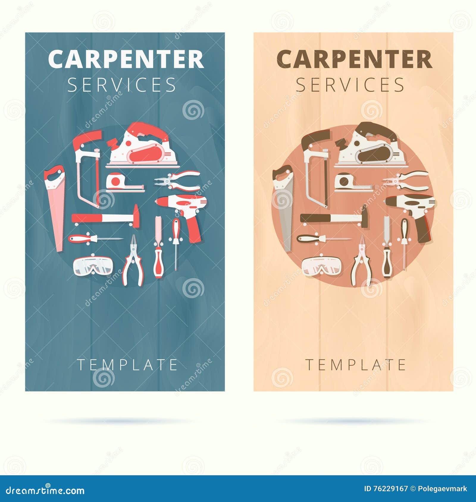 Carpenter service vector business card concept design stock vector carpenter service vector business card concept design fbccfo Choice Image