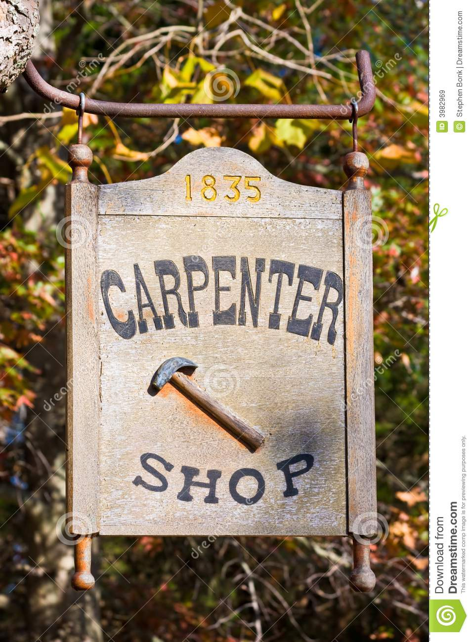 carpenter shop sign at the carpenter shop in Allaire Village, New ...