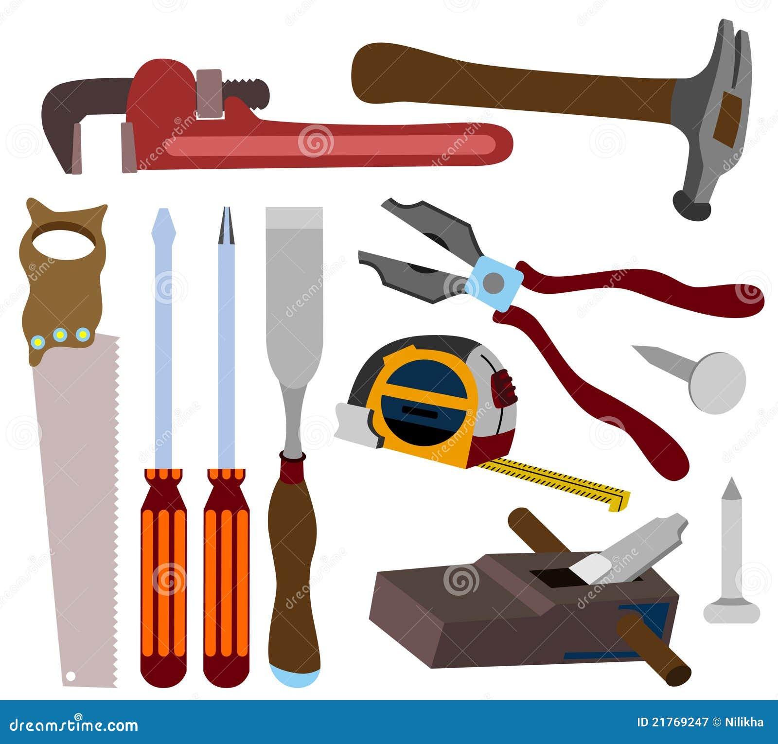 Carpenter tools stock illustration. Image of nail ...