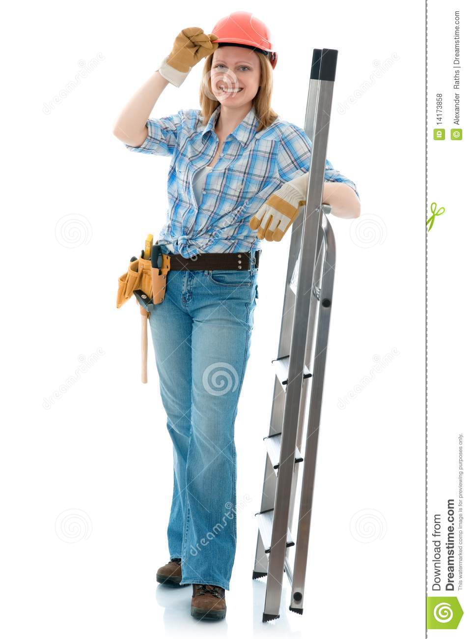 Carpenter Woman Royalty Free Stock Photos - Image: 14173858