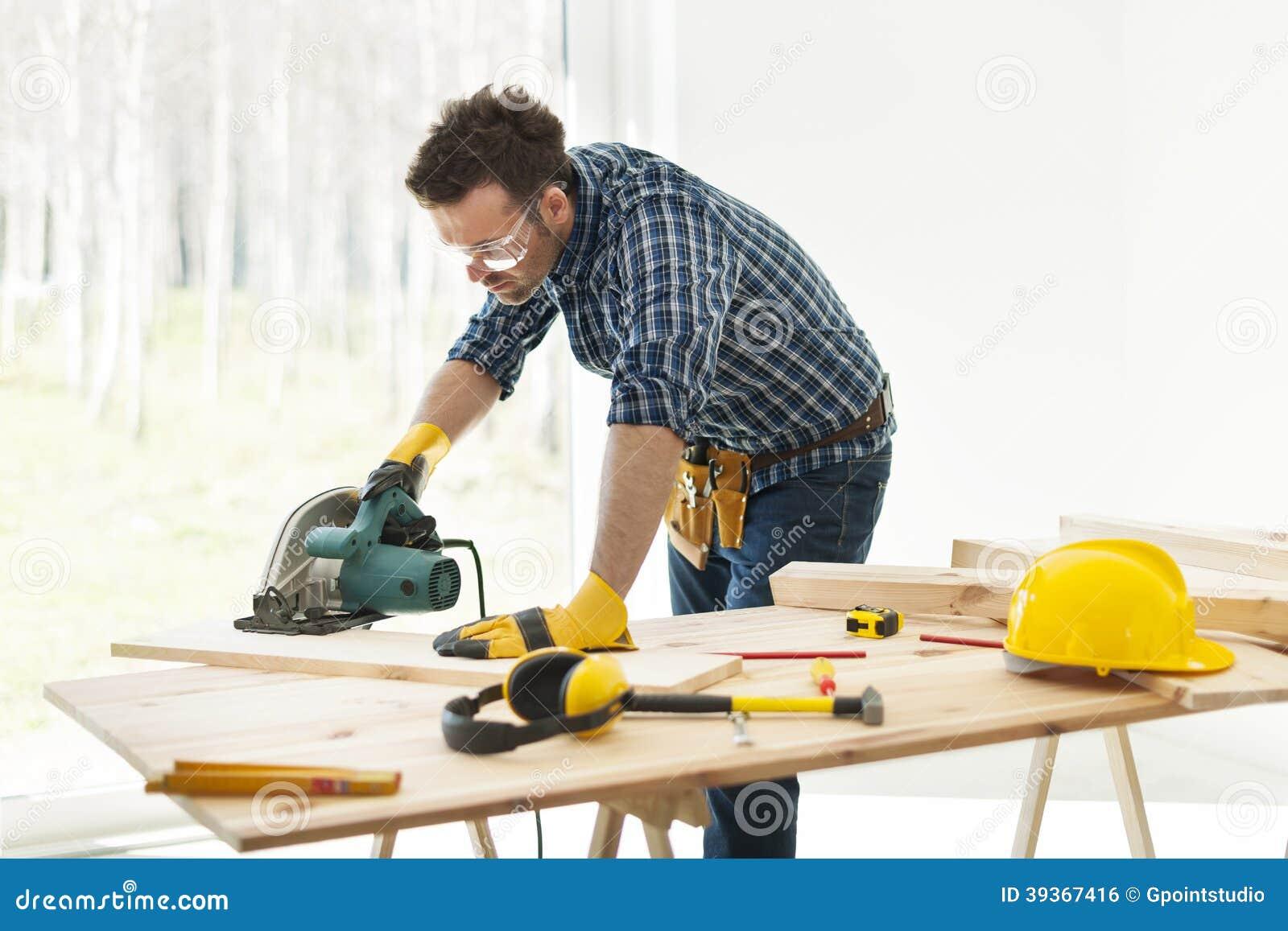 Carpenter At Work Stock Photo Image 39367416