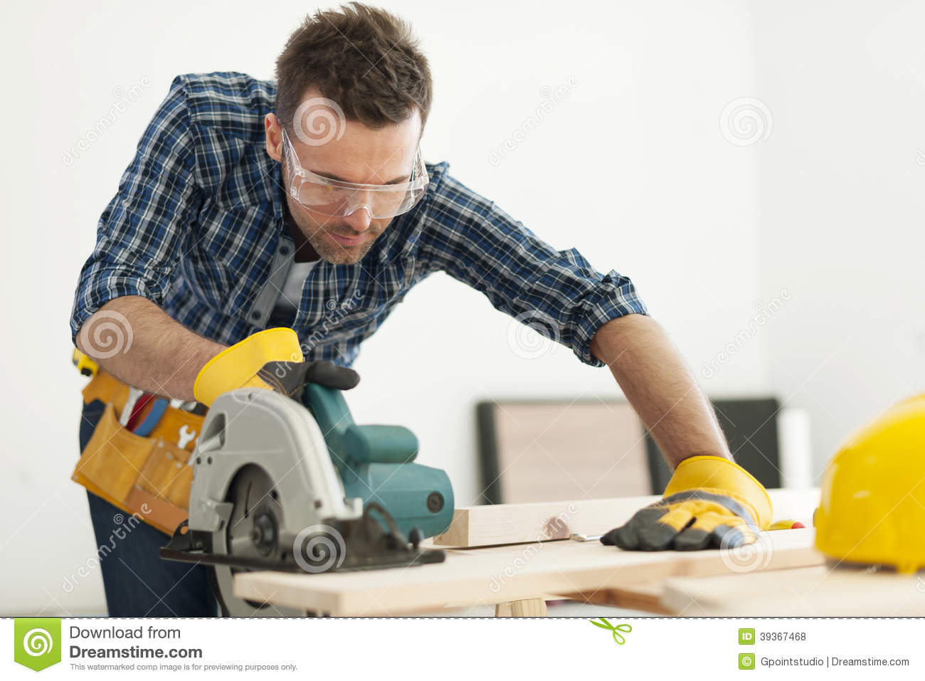 Carpenter At Work Stock Photo Image 39367468