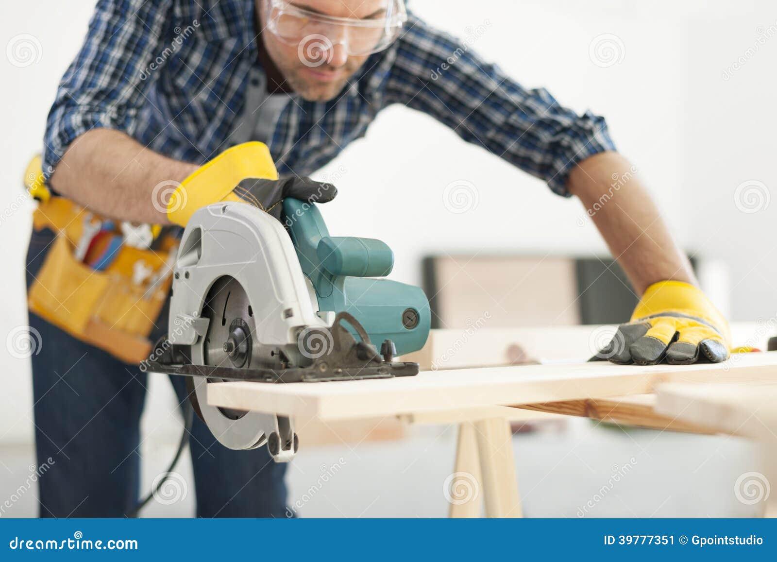 Carpenter At Work Stock Photo - Image: 39777351