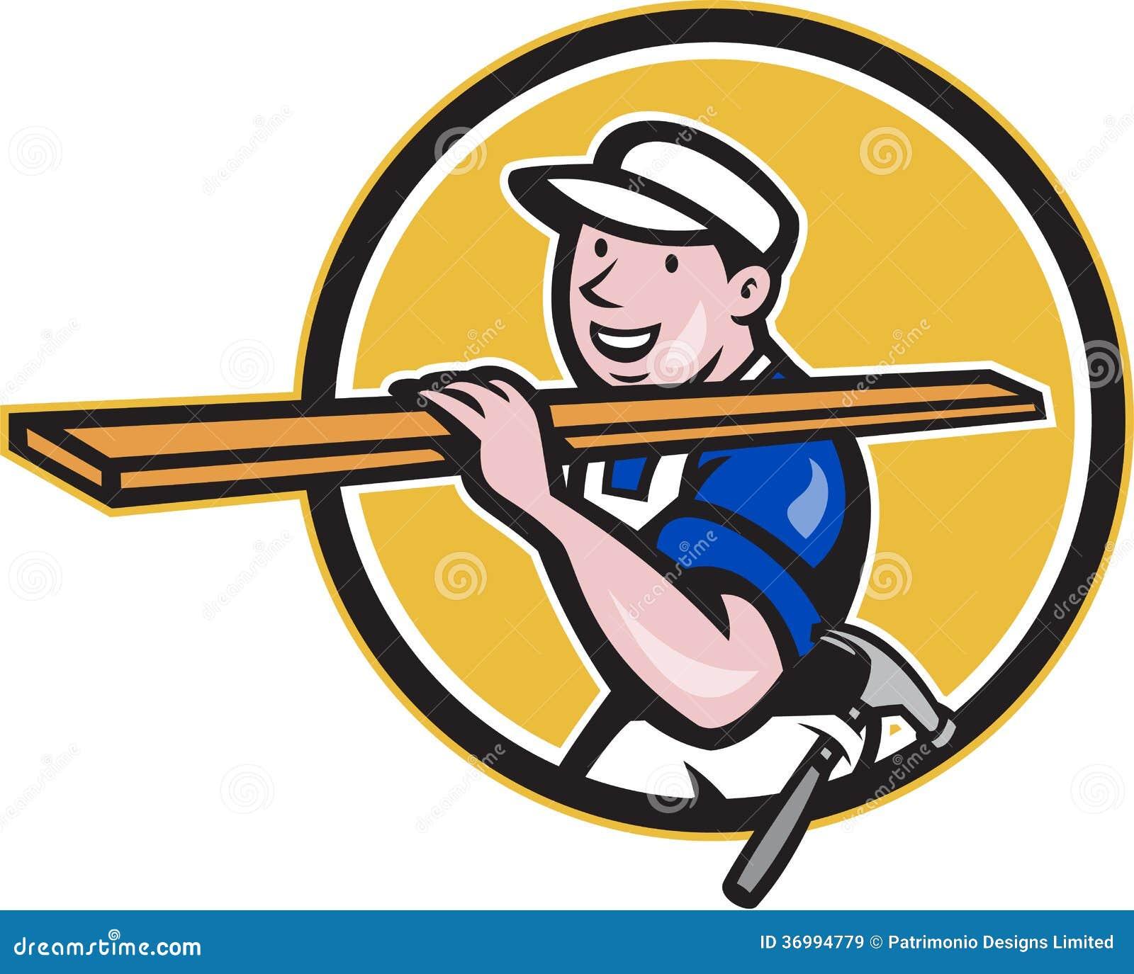 Carpenter Worker Carry...