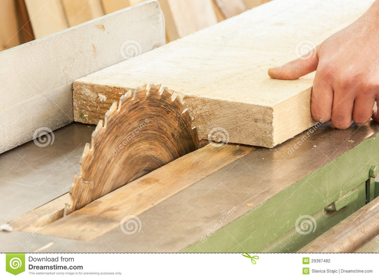 Carpenter Working On Woodworking Machines In Carpe Stock Photography - Image: 29387482