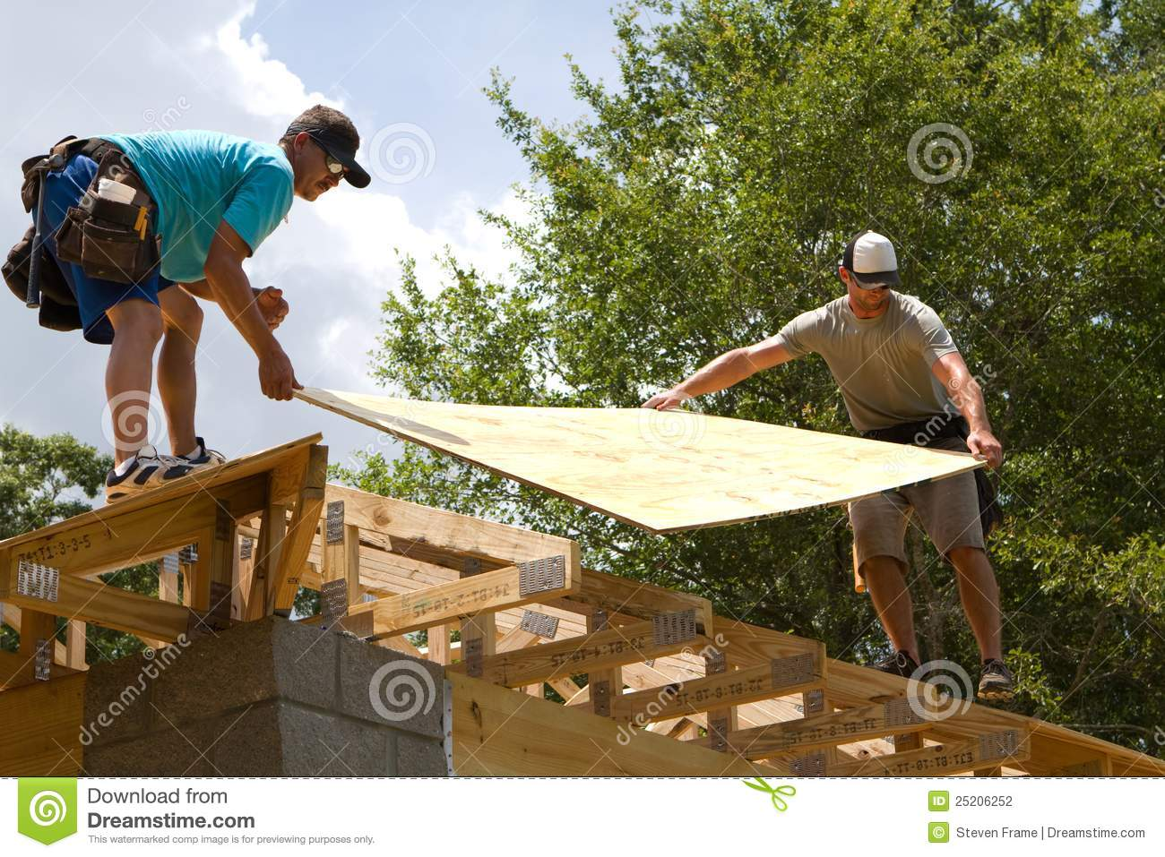 Carpenters With Plywood