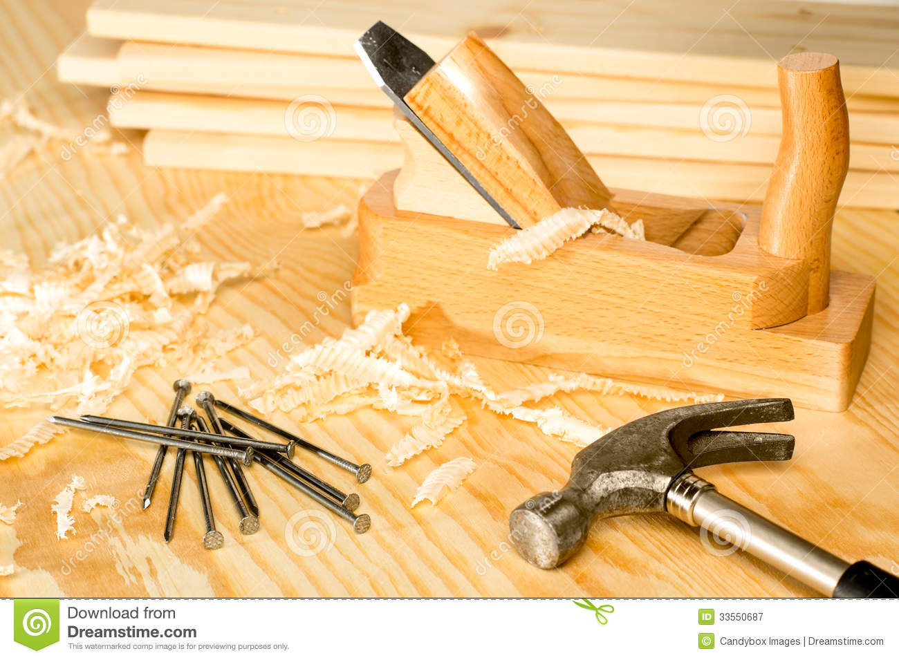 Carpentery Variety Of Woodwork Tools Royalty Free Stock Photography ...
