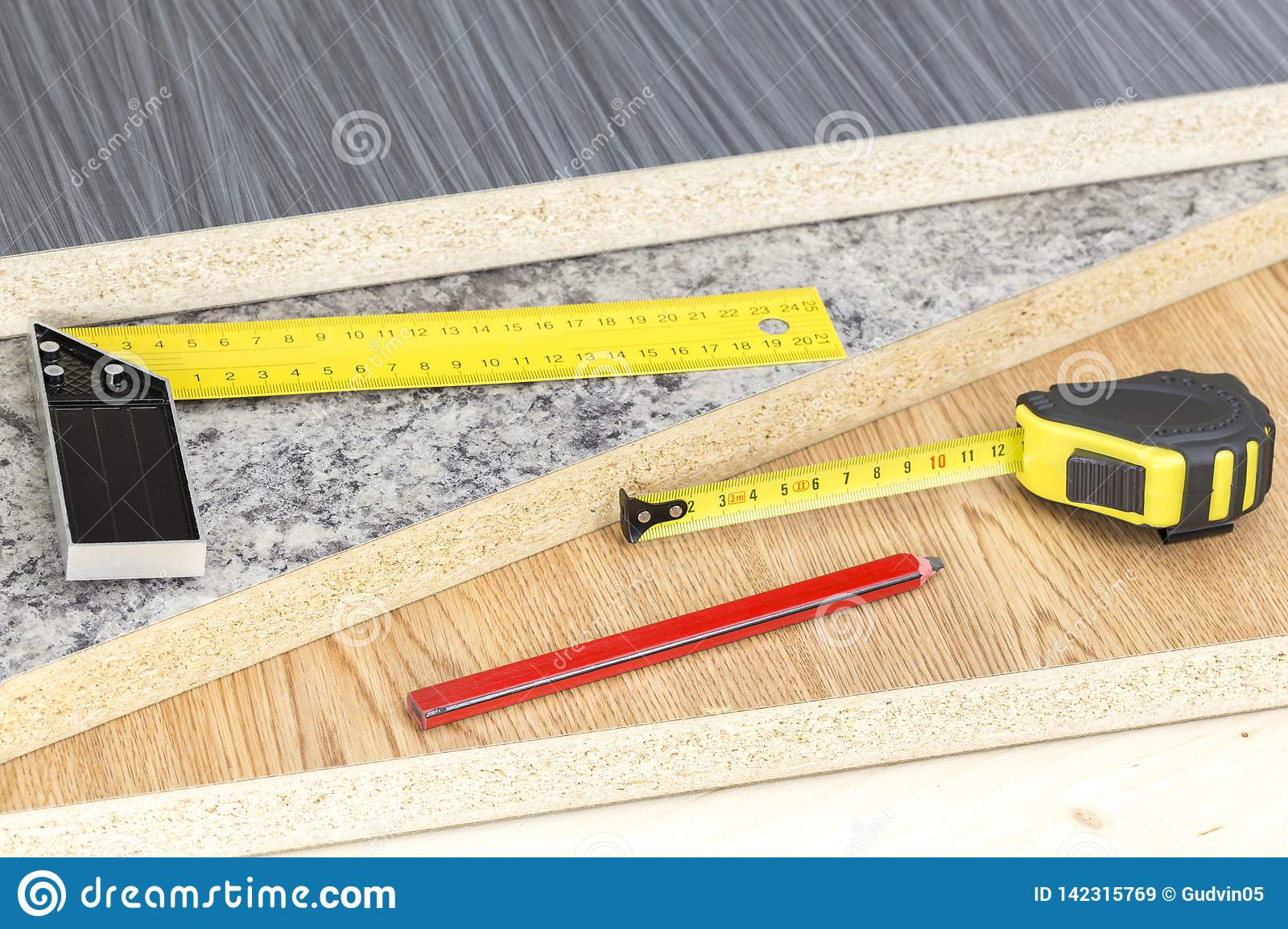 Building and project tools concept. Carpentry tools