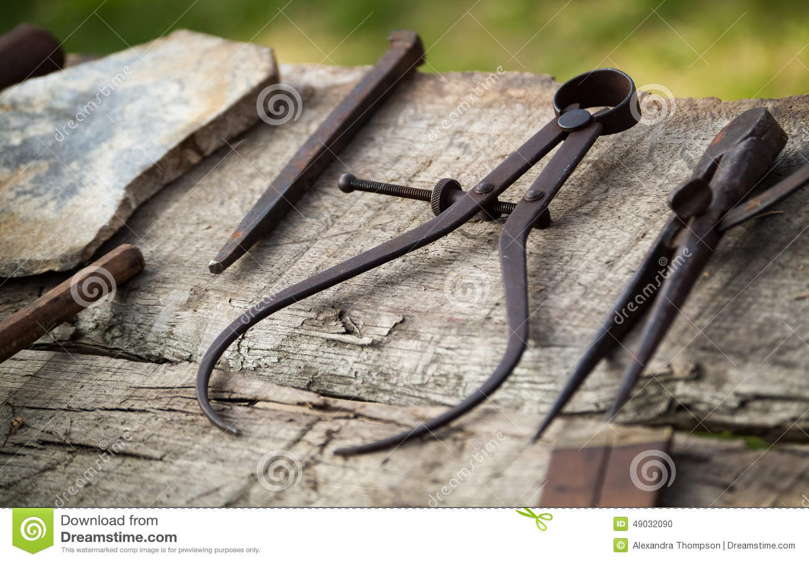 Carpentry Tools Stock Photo Image 49032090