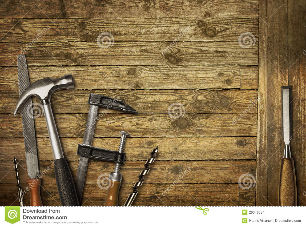Carpentry Tools Old Wood Stock Photo Image Of Rough 26346684