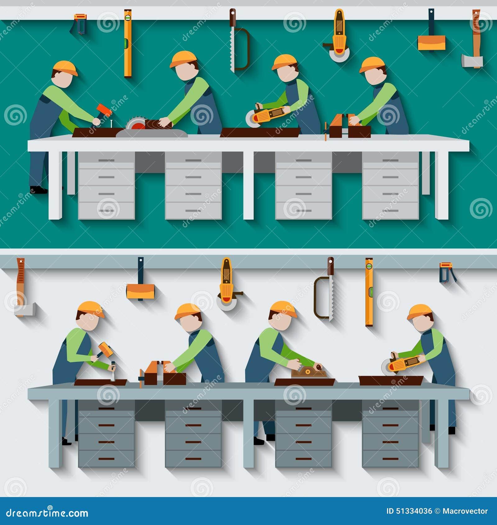 Carpentry workshop illustration stock vector image 51334036 for Planos de carpinteria