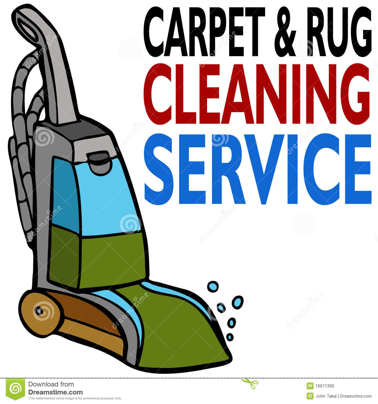 Carpet Cleaning Service Stock Vector Image Of Cleaner