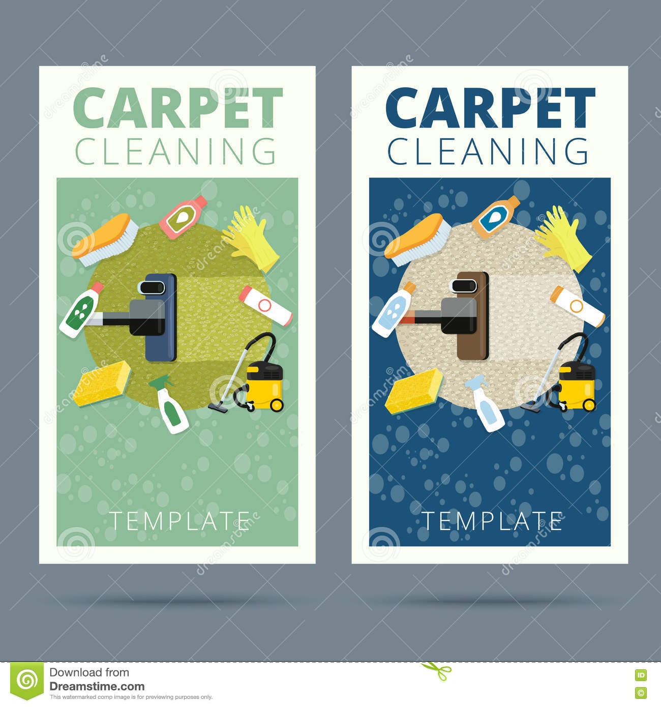 Carpet cleaning service vector illustration business card conce carpet cleaning service vector illustration business card conce magicingreecefo Gallery