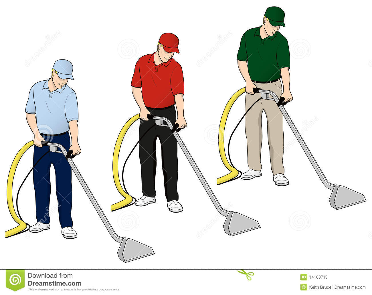 Carpet Cleaning Tech Clip Art Set 6 Royalty Free Stock
