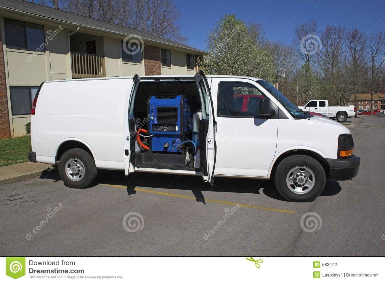 Carpet Cleaning Van 1 Stock Photography Image 583442