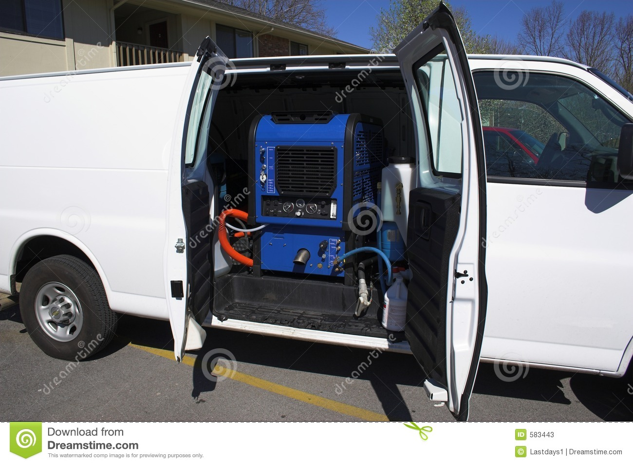 Carpet Cleaning Van 2 Stock Image Image Of Extraction