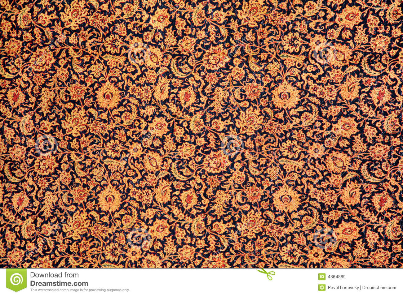 Carpet with floral ornament